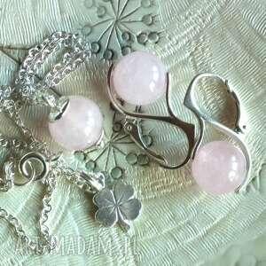 srebrny komplet biżuterii na prezent, srebro, srebrny, komplet, kwarc, kamień