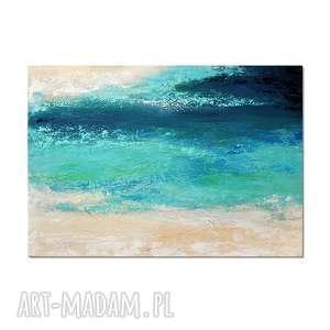 głębia 13, abstrakcja, nowoczesny obraz ręcznie malowany, obraz