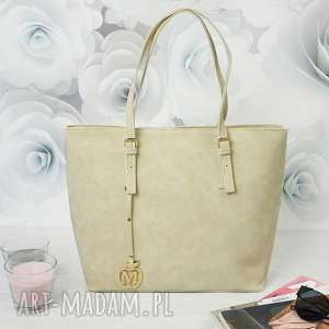 Prezent MANZANA klasyczna torba miejski styl ECRU , torebka, torba, kuferek, damska