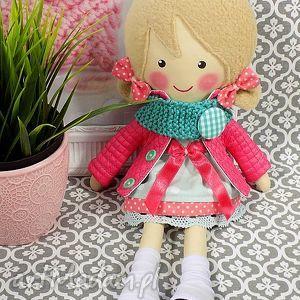 hand-made lalki malowana lala iga z wełnianym szalikiem