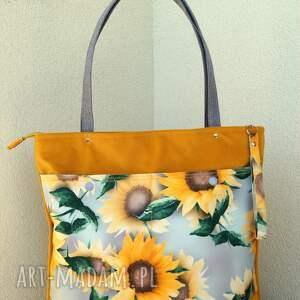 słoneczna torba na ramię, torba, worek, kwiatowa, prezent, wiosna lato, polski