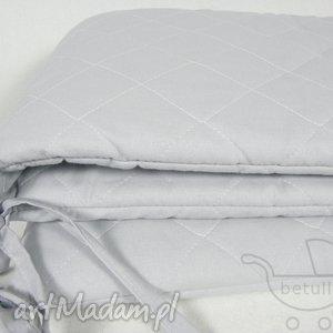 hand-made pokoik dziecka pikowany ochraniacz do łóżeczka pastelowy szary