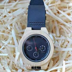 zegarki drewniany, bambusowy zegarek z datownikiem seiko, zegarek, drewniany
