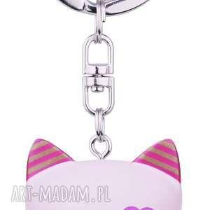 Prezent Brelok mani lucky cat różowy-serce, brelok, kimmidoll, kotek, manekineko