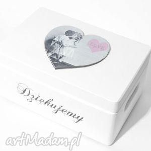 koloryziemi ślubne pudełko na koperty kopertówka uniwersalne serce love napis