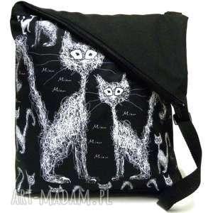 Na ramię gaul designs koty, listonoszka, pojemna
