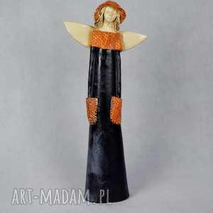 Anioł ceramiczny, anioł-ceramiczny, ręcznie-wykonany