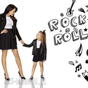 komplet dla mamy i córki - spódnica z koła na gumce, czarny, spódnica, na, gumce