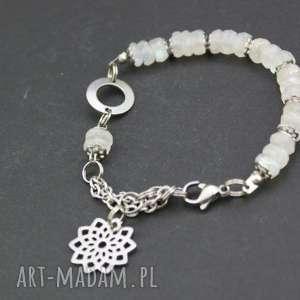 handmade bransoletka kamień księżycowy w stali szlachetnej