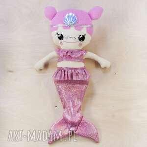 Laleczka dollis - syrenka z różowymi włosami lalki poofy cat