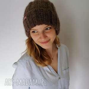 Czapka z merino czapki the wool art dodatki, czapki, czapka