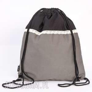 święta prezent, plecaki koronkowa szarość, worek, plecak, torba, koronka