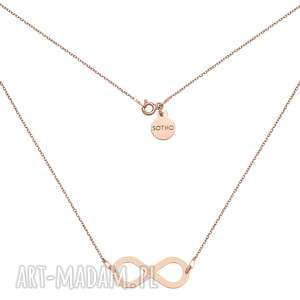 Naszyjnik z dużą nieskończonością z różowego złota - ,naszyjnik,nieskończoność,różowe,złot