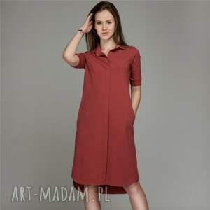 FLANGE MARSALA | sukienka z dzianiny, sukienka, dzianina, bawełna