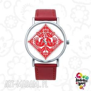 Zegarek z grafiką kurpiowskie kurki zegarki ludowelove folk