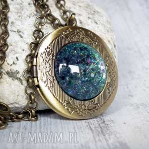 Prezent galaktyczny sekretnik :: unikatowy otwierany medalion idealny na prezent