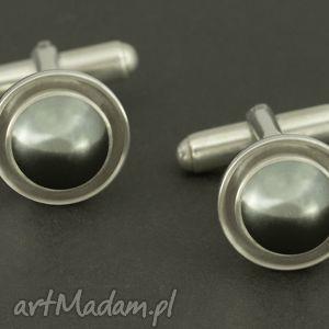 eleganckie spinki do mankietów czarna perła swarovski, mezczyzna, mężczyzna