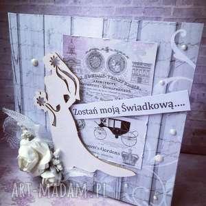 kartka dla Świadkowej - ślub, świadkowa, młodzi, zapytanie, kartka