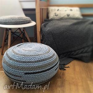 Pufa scandi style, sznurkowa mix knitting factory puf, sznurkowa