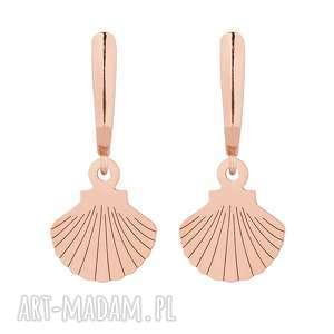 ręczne wykonanie kolczyki kolczyki z różowego złota z muszelkami