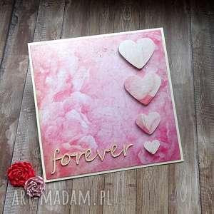 Ślubne forever, życzenia-ślubne, serca, miłość, miłosna