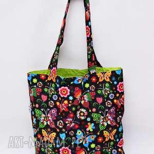 torba na zakupy shopperka, eko zakupowa ramię bawełniana, szoperka