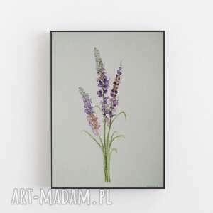 lawenda-akwarela formatu 18/24 cm, akwarela, papier, lawenda