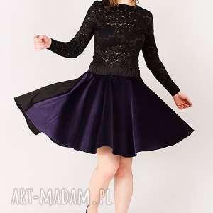 spódnice spódnica z fioletowego aksamitu, impreza, welur, aksamit, rozkloszowana