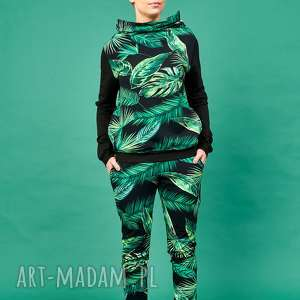 handmade ubrania dres w tropikalne liście