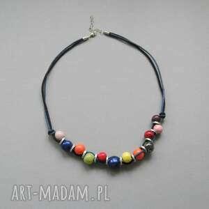 naszyjnik barwy lata - naszyjnik, kobiecy, prezent, kolorowy, ceramika, metal