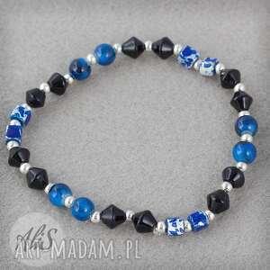 Czarno niebieska perła - Ręcznie wykonane