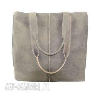 Prezent duża torba, worek z nubuku 2605, torebka, torba-do-pracy