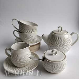 unikalny, zastawa ceramiczna 2, zastawa, czajnik, filiżanka do herbaty, ceramika