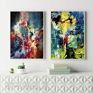zestaw 2 plakatów #9 61x91 cm, abstrakcja, plakat abstrakcyjne