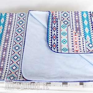 kocyk minky 75x100 etno blue, kocyk, kołderka, dziewczyna, etno, aztek, dziecko