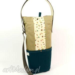 torebki torba emerald , boho, hippie, damska, kwiaty, wegańska, składana