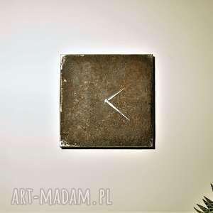 Designerski, unikalny, oryginalny, indywidualny zegar ścienny handmade z drewna