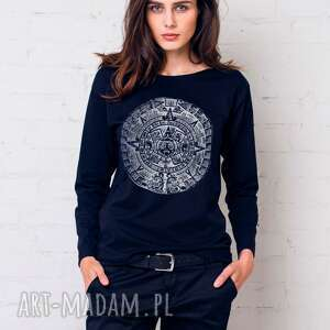 mayan bluzka oversize, bluzka, longsleeve, bawełna, casual, moda, prezenty