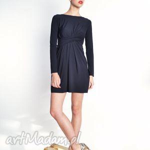 cristina mini - black sukienka, jersey, sukienka, udrapowanie sukienki