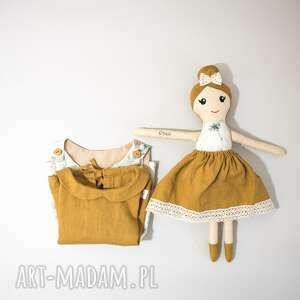 zestaw lalka i sukienka dla dziewczynki