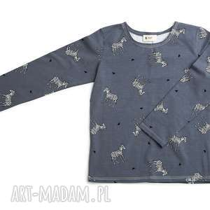 bluzka ZEBRY, bluzka, zebry, bawełna, dziecko, wiosna, nadruk