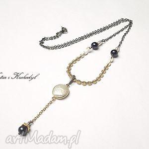 Pearls - naszyjnik naszyjniki katia i krokodyl srebro, pozłacane
