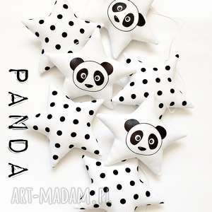 panda - girlanda - panda, girlanda, gwiazdka, gwiazdki, miś