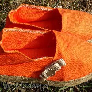 buciki espadryle dziecięce sweet kids pomarańczowe, espadryle, buty, obuwie