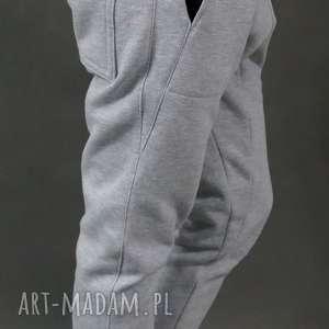 Spodnie dresowe Baggy Lil Yo szare, baggy, dresowe, obniżonykrok, ciepłe, streetwear