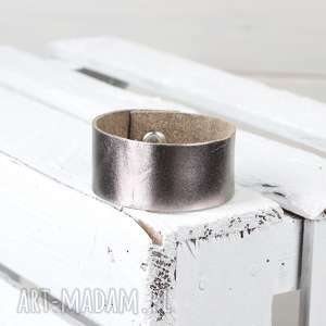 skórzana srebrna bransoleta srebrna, skórzana, bransoletka, skóra, biżteria