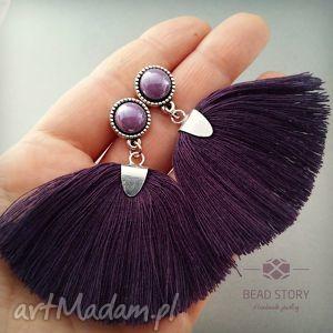 bead story pędzelki bakłażanowe, sztyfty, metal, kaboszon, szkło, chwost biżuteria