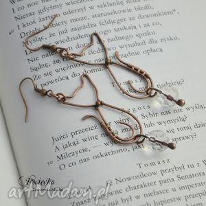 ręcznie zrobione kolczyki kociaki - kolczyki ze szkłem