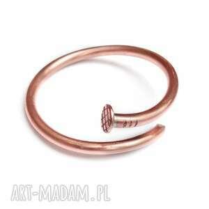 hand-made bransoleta z miedzi - gwóźdź