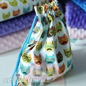 handmade pokoik dziecka woreczek / plecaczek koty